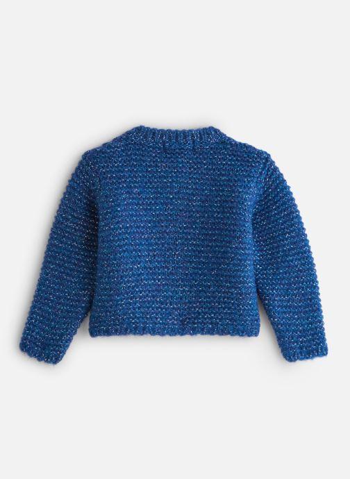 Vêtements Arsène et les Pipelettes Gilet Lurex Bébé Bleu vue bas / vue portée sac