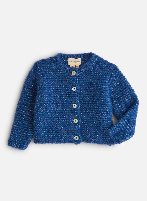 Vêtements Arsène et les Pipelettes Gilet Lurex Bébé Bleu vue détail/paire