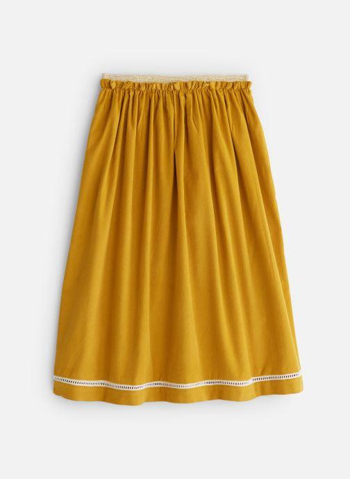 Vêtements Arsène et les Pipelettes Jupe longue velours et dentelle Jaune vue bas / vue portée sac