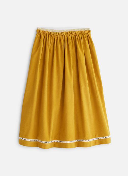 Vêtements Arsène et les Pipelettes Jupe longue velours et dentelle Jaune vue détail/paire