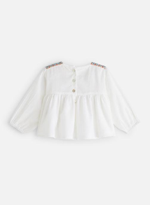 Vêtements Arsène et les Pipelettes Blouse plastron brodé Blanc vue bas / vue portée sac