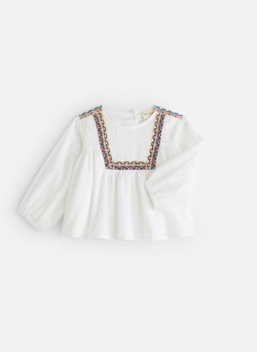 Vêtements Arsène et les Pipelettes Blouse plastron brodé Blanc vue détail/paire