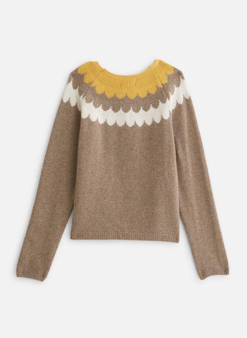 Vêtements Arsène et les Pipelettes Cardigan  Vagues tricolore Marron vue bas / vue portée sac