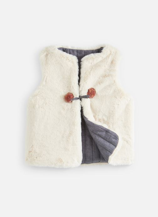 Vêtements Arsène et les Pipelettes Fourrure SM réversible Blanc vue détail/paire