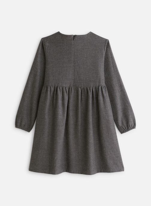 Vêtements Arsène et les Pipelettes Robe tweed ganse pompons Gris vue bas / vue portée sac