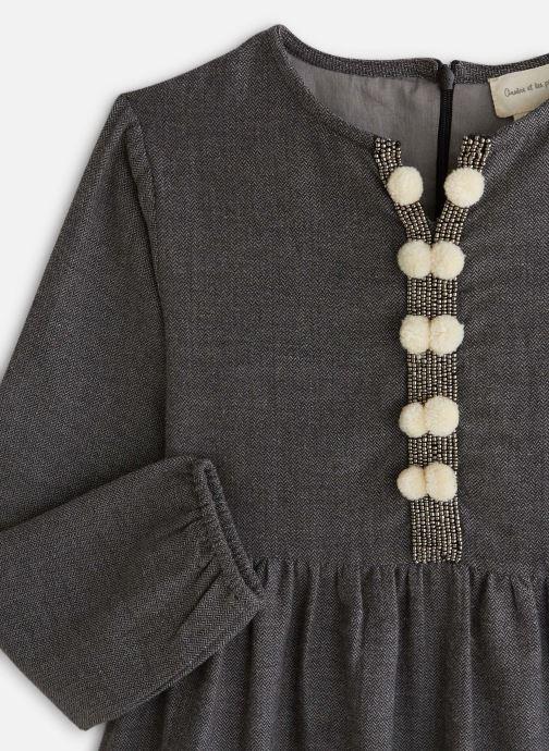 Vêtements Arsène et les Pipelettes Robe tweed ganse pompons Gris vue portées chaussures