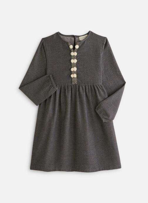 Vêtements Arsène et les Pipelettes Robe tweed ganse pompons Gris vue détail/paire