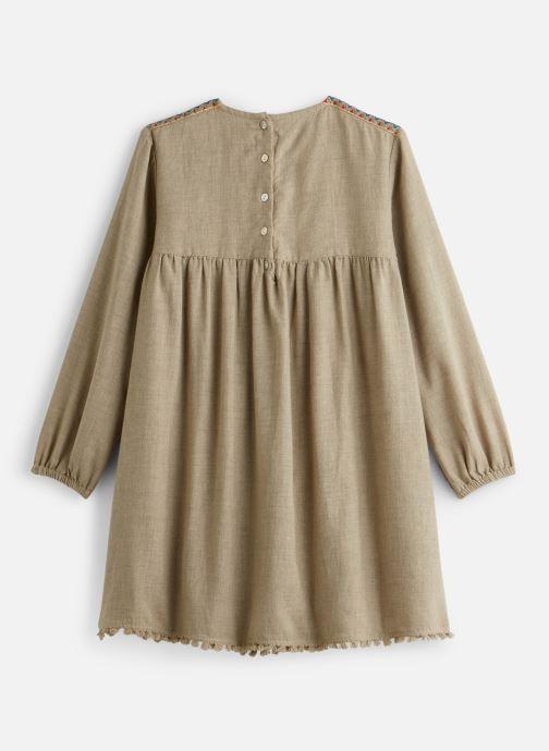 Vêtements Arsène et les Pipelettes Robe plastron brodé Beige vue bas / vue portée sac