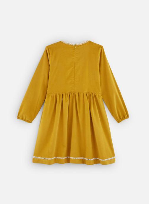 Vêtements Arsène et les Pipelettes Robe velours fin jours échelle Jaune vue bas / vue portée sac