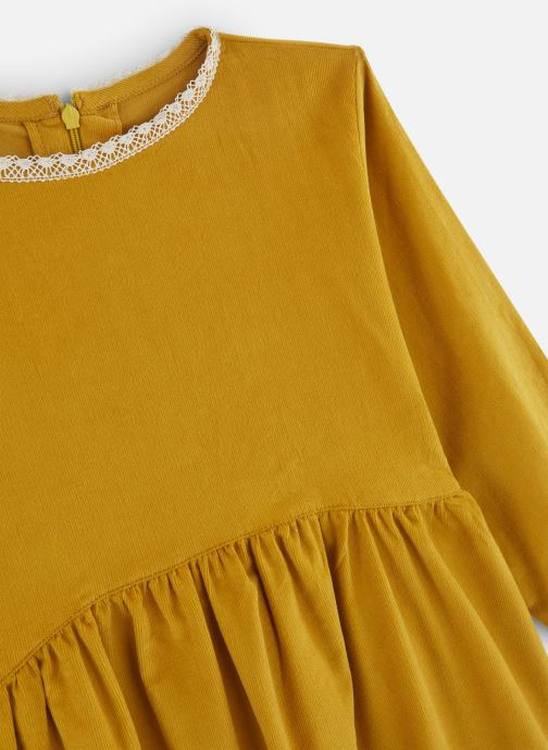 Kleding Arsène et les Pipelettes Robe velours fin jours échelle Geel model