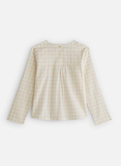Vêtements Arsène et les Pipelettes Blouse carreaux lurex Blanc vue bas / vue portée sac