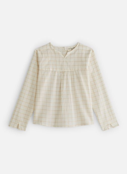 Vêtements Arsène et les Pipelettes Blouse carreaux lurex Blanc vue détail/paire