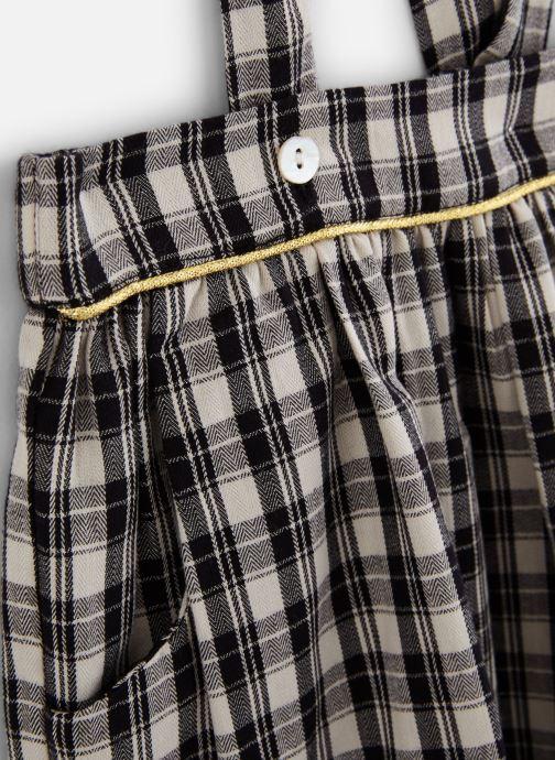 Vêtements Arsène et les Pipelettes Jupe carreaux à bretelles Gris vue portées chaussures