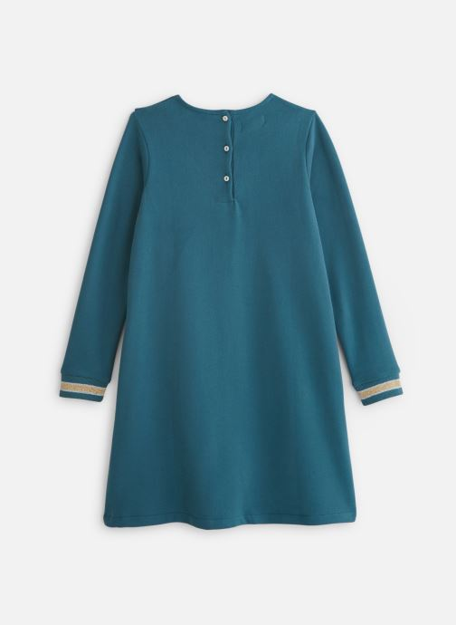 Vêtements Arsène et les Pipelettes Robe Col Froufrou Bleu vue bas / vue portée sac