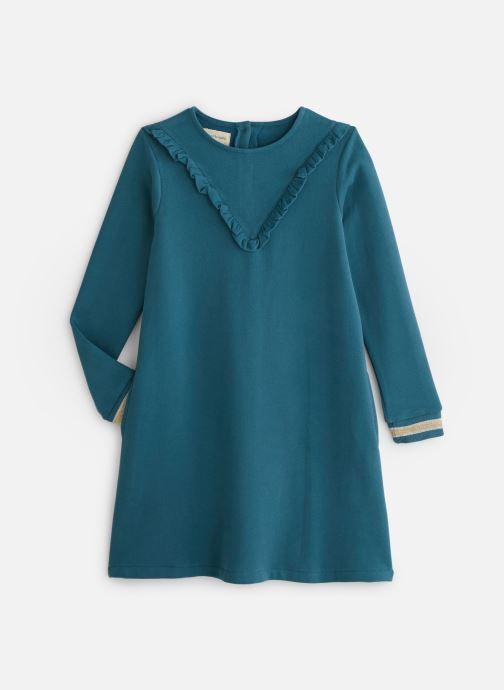 Vêtements Arsène et les Pipelettes Robe Col Froufrou Bleu vue détail/paire