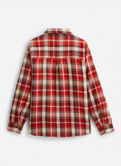 Vêtements Arsène et les Pipelettes Chemise  réversible écossais/vichy Rouge vue bas / vue portée sac