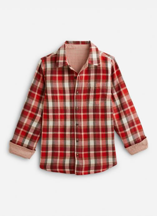 Vêtements Arsène et les Pipelettes Chemise  réversible écossais/vichy Rouge vue détail/paire