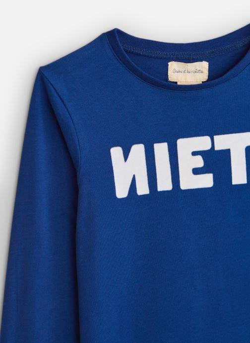Vêtements Arsène et les Pipelettes T-shirt flock Niet Bleu vue portées chaussures