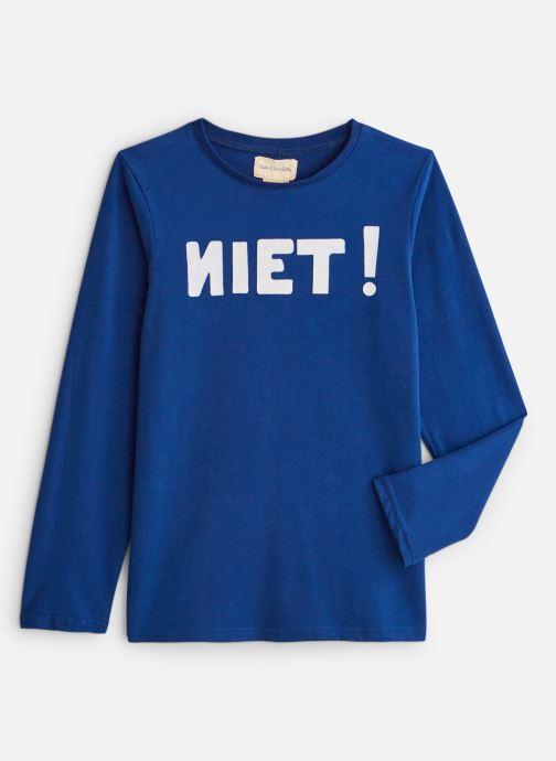 Vêtements Arsène et les Pipelettes T-shirt flock Niet Bleu vue détail/paire