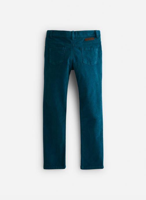 Vêtements Arsène et les Pipelettes Pantalon velours fin stretch Bleu vue bas / vue portée sac