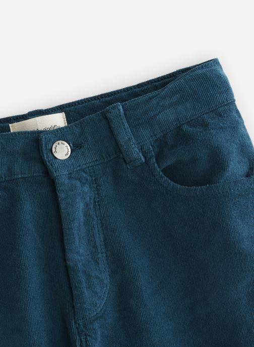 Vêtements Arsène et les Pipelettes Pantalon velours fin stretch Bleu vue portées chaussures