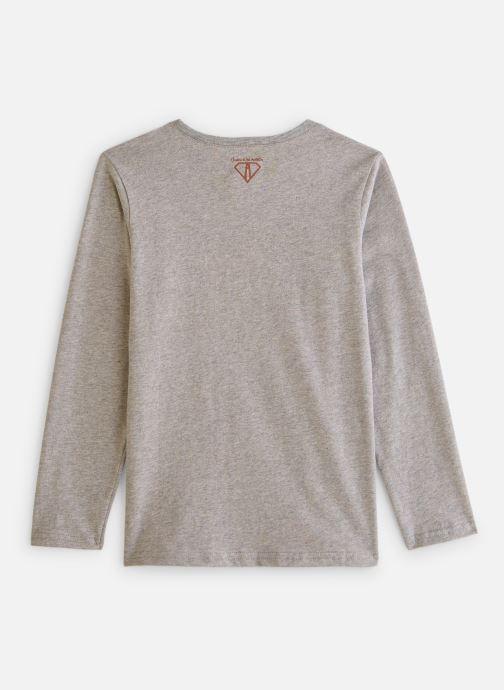 Vêtements Arsène et les Pipelettes T-shirt flock Beau mec Gris vue bas / vue portée sac