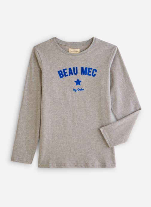 T-shirt - T-shirt flock Beau mec - Gris