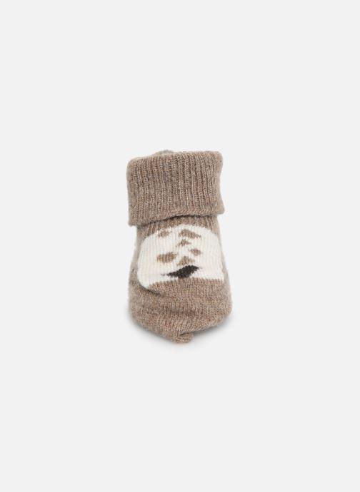 Chaussettes et collants Arsène et les Pipelettes Chaussons tricotés Daim Marron vue portées chaussures