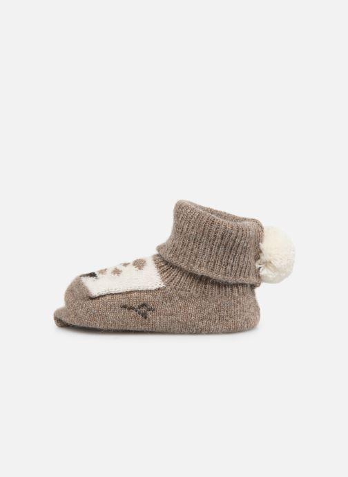 Chaussettes et collants Arsène et les Pipelettes Chaussons tricotés Daim Marron vue face