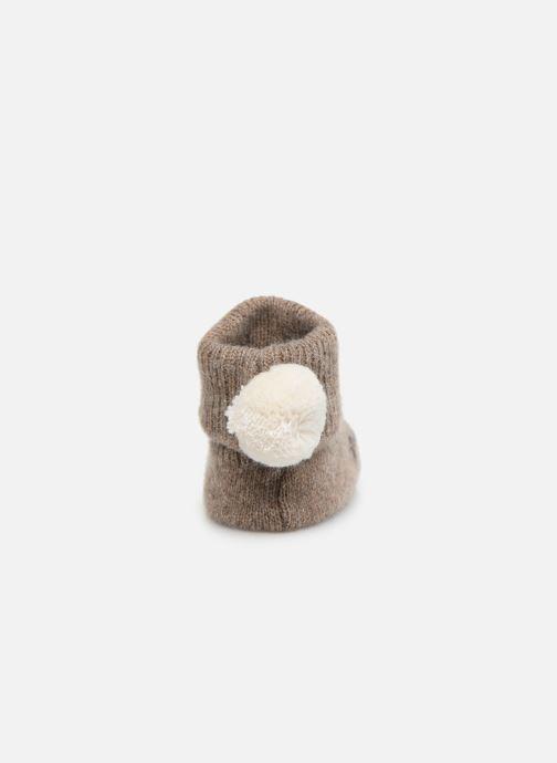 Chaussettes et collants Arsène et les Pipelettes Chaussons tricotés Daim Marron vue droite