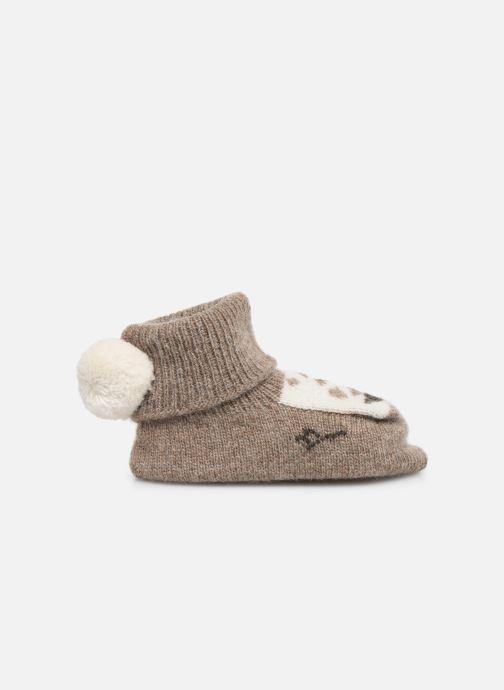 Socks & tights Arsène et les Pipelettes Chaussons tricotés Daim Brown back view