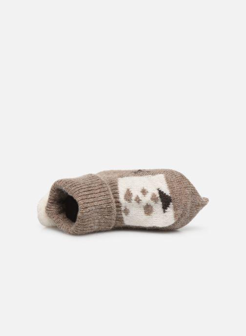 Chaussettes et collants Arsène et les Pipelettes Chaussons tricotés Daim Marron vue gauche