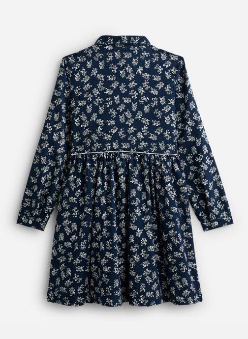 Vêtements Arsène et les Pipelettes Robe à col en coton imprimé Fleurs Bleu vue bas / vue portée sac
