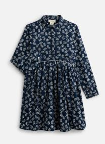 Robe midi - Robe à col en coton imprimé Fleurs