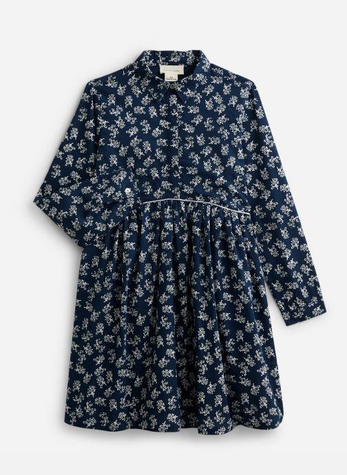 Vêtements Arsène et les Pipelettes Robe à col en coton imprimé Fleurs Bleu vue détail/paire