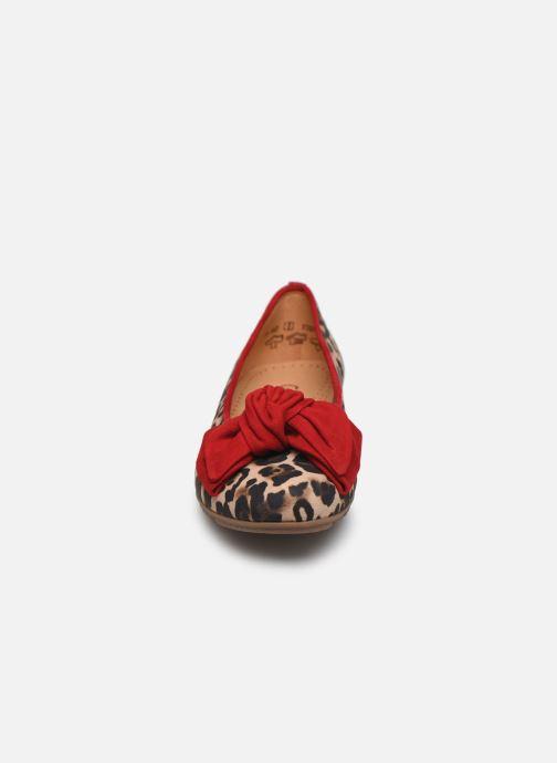 Ballerines Gabor Leop Multicolore vue portées chaussures