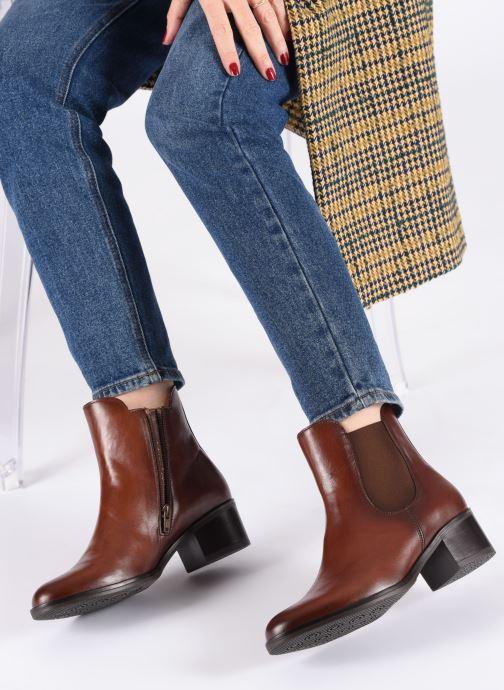 Bottines et boots Gabor Lora Marron vue bas / vue portée sac