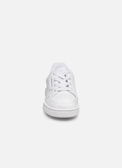 Baskets adidas originals Continental 80 El I Blanc vue portées chaussures