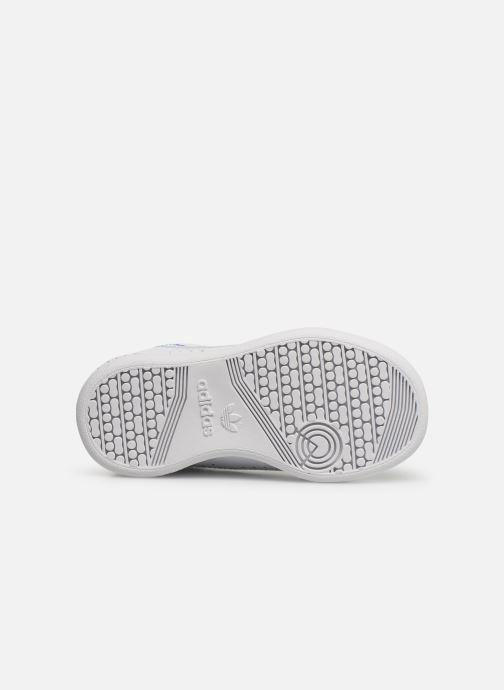 Baskets adidas originals Continental 80 El I Blanc vue haut