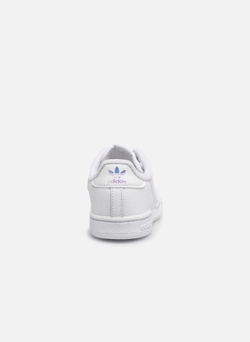 Baskets adidas originals Continental 80 El I Blanc vue droite
