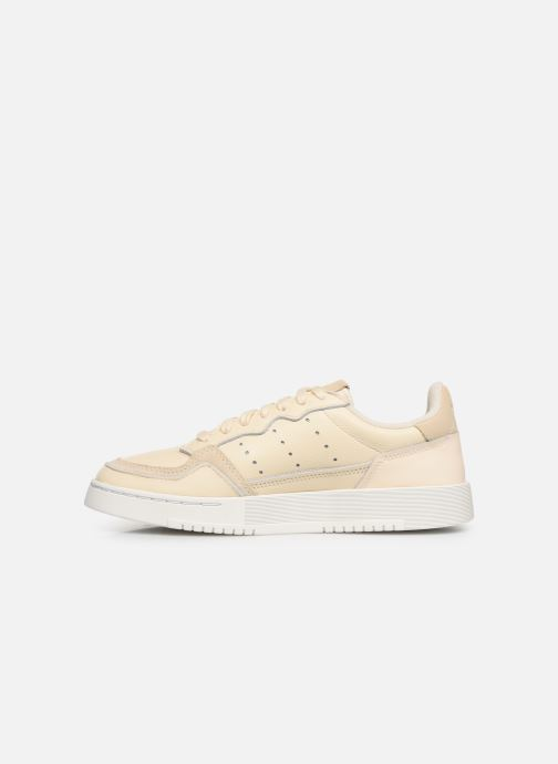 Baskets adidas originals Supercourt J Beige vue face
