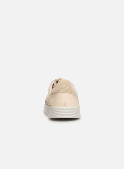 Baskets adidas originals Supercourt J Beige vue droite