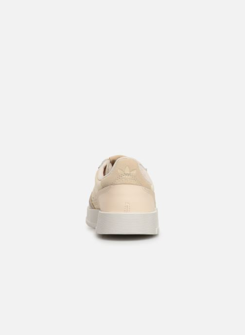 Baskets adidas originals Supercourt J Beige vue droite