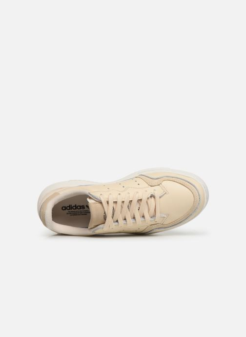 Baskets adidas originals Supercourt J Beige vue gauche