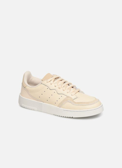 Baskets adidas originals Supercourt J Beige vue détail/paire