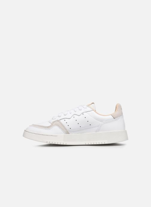 Baskets adidas originals Supercourt J Blanc vue face