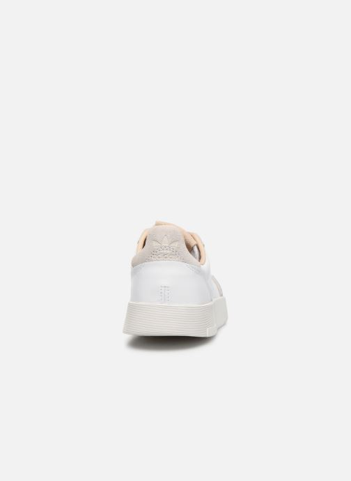 Baskets adidas originals Supercourt J Blanc vue droite