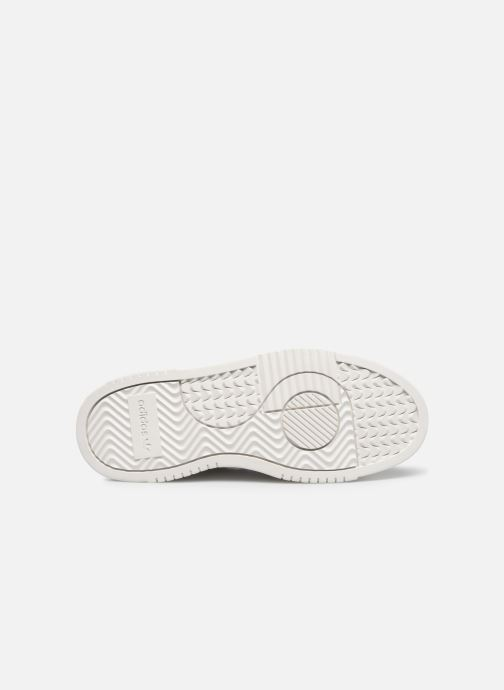 Baskets adidas originals Supercourt J Blanc vue haut