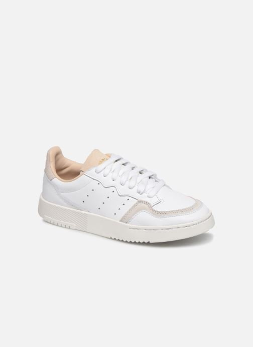Baskets adidas originals Supercourt J Blanc vue détail/paire