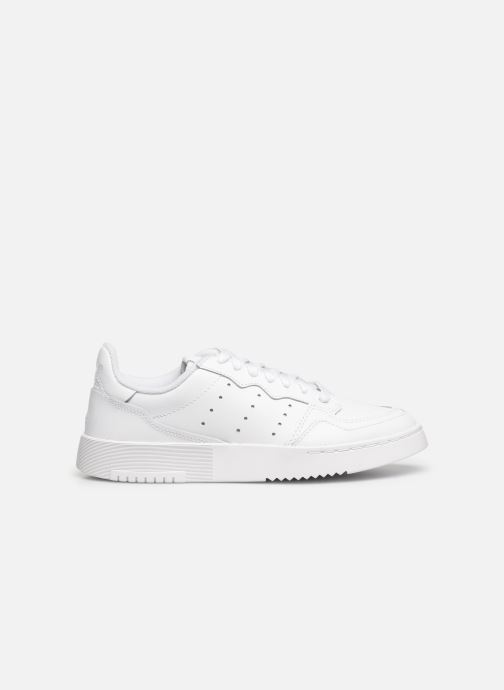 Baskets adidas originals Supercourt J Blanc vue derrière